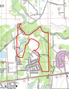 259 Ac. Mont. Co. Airport Tract Topo